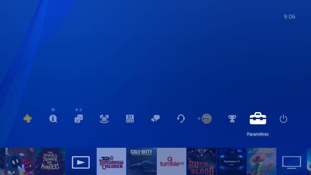 Paramètres PS4