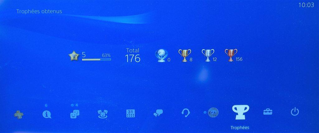 PS4 Trophées